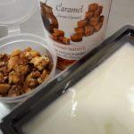Griekse yoghurt en caramelsiroop