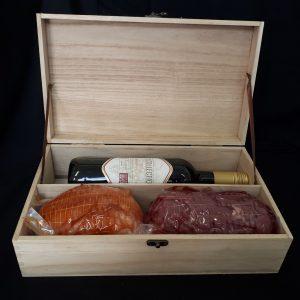 Kerstpakket Wijnkist Slagerij Bart Adriaanse