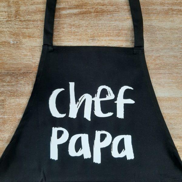 Schort chef papa zwart